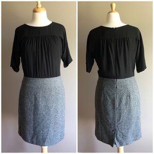 LOFT Black & Grey Classy Career Work Dress